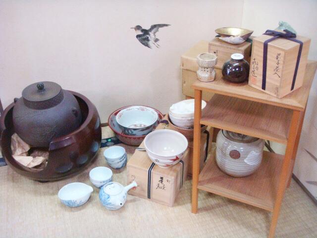 お茶道具一覧、茶碗、釜