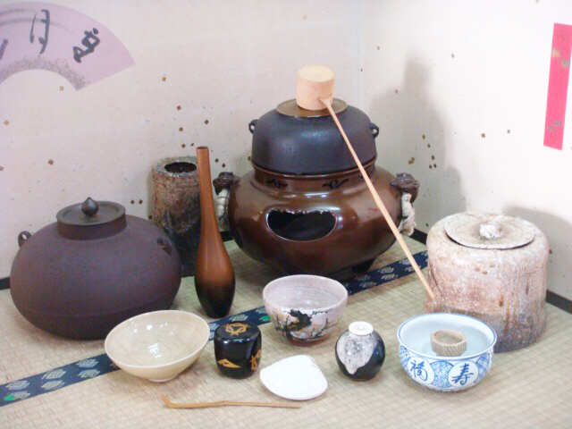 お茶道具一覧、茶碗、釜、棗、茶杓